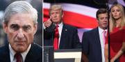 Arkivbilder. Mueller (t v), Trump, Manafort och Ivanka Trump under presidentkampanjen (t h). TT