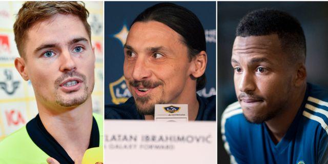 Lustig, Ibrahimovic, Olsson. Arkivbilder TT