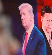 Arkivbild: USA:s president Donald Trump och Kinas dito Xi Jinping.  Ahn Young-joon / TT NYHETSBYRÅN