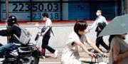 Japans Nikkei 225 index. Eugene Hoshiko / TT NYHETSBYRÅN