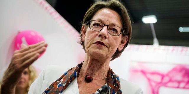 Gudrun Schyman (FI). Vilhelm Stokstad / TT / TT NYHETSBYRÅN