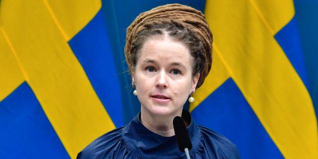 Amanda Lind. Jonas Ekströmer/TT / TT NYHETSBYRÅN