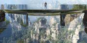 Den nya bron kommer att ha två golv. Det undre är gjort i 100 procent glas. Martin Duplantier