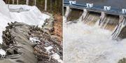 Barriär i Norrbotten. TT.