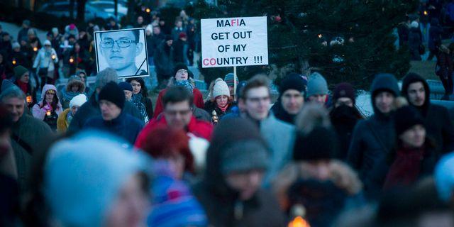 Demonstrationer efter morden. Bundas Engler / TT NYHETSBYRÅN/ NTB Scanpix