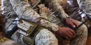 Arkivbild. En saudisk soldat i Jemen.  Jon Gambrell / TT NYHETSBYRÅN/ NTB Scanpix