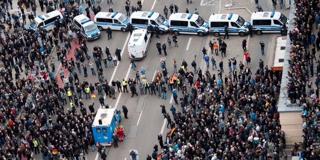 Demonstranter oroade over registrering
