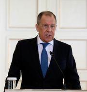 Rysslands utrikesminister Sergej Lavrov. Costas Baltas / TT NYHETSBYRÅN