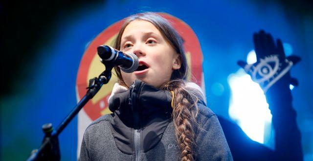 Greta Thunberg JAVIER BARBANCHO / TT NYHETSBYRÅN