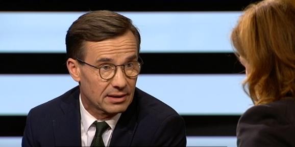 Ulf Kristersson i Agenda. SVT