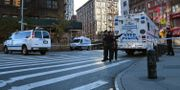 Polisen har spärrat av runt brottsplatsen. LLOYD MITCHELL / TT NYHETSBYRÅN