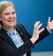 Finansminister Magdalena Andersson. Fredrik Sandberg/TT / TT NYHETSBYRÅN