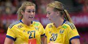Arkivbild: Sveriges Sabina Jacobsen och Isabelle Gulldén. Maja Suslin/TT / TT NYHETSBYRÅN