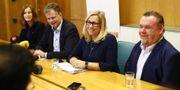 Emmyly Bönfors (C), Axel Josefson (M), Helene Odenjung (L) och David Lega (KD). Thomas Johansson / TT NYHETSBYRÅN