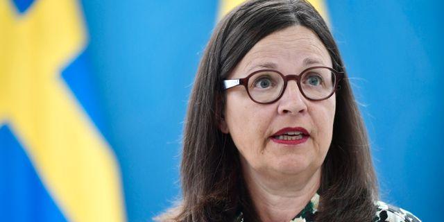 Anna Ekström. Stina Stjernkvist/TT / TT NYHETSBYRÅN
