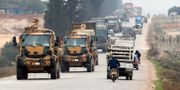 Turkisk militärkonvoj i Syrien. TT NYHETSBYRÅN