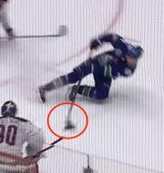 Elias Petterssons hyllade mål i natt. NHL