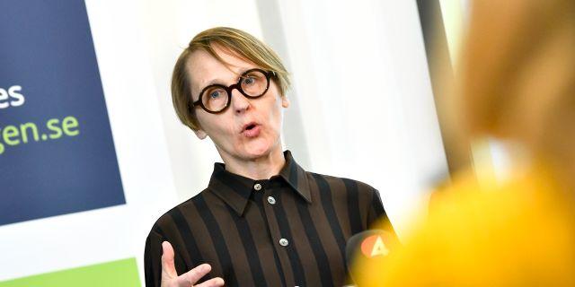 Arbetsförmedlingens analyschef Annika Sundén. Claudio Bresciani/TT / TT NYHETSBYRÅN