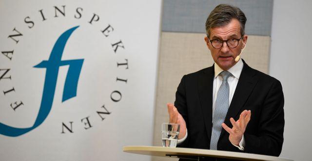 Finansinspektionens generaldirektör Erik Thedéen. Pontus Lundahl/TT / TT NYHETSBYRÅN