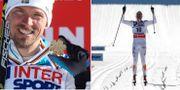 Johan Olsson tar guld på femmilen i Vald di Fiemme i mars 2013. AP/TT