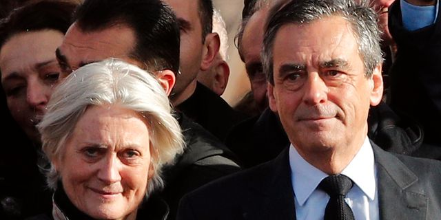 Fillion med sin fru. Christophe Ena / TT / NTB Scanpix