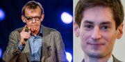 Hans Rosling, Peter Wolodarski. Arkivbilder. TT