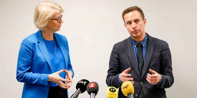 Elisabeth Svantesson och Tomas Tobé i november 2018. Christine Olsson/TT / TT NYHETSBYRÅN