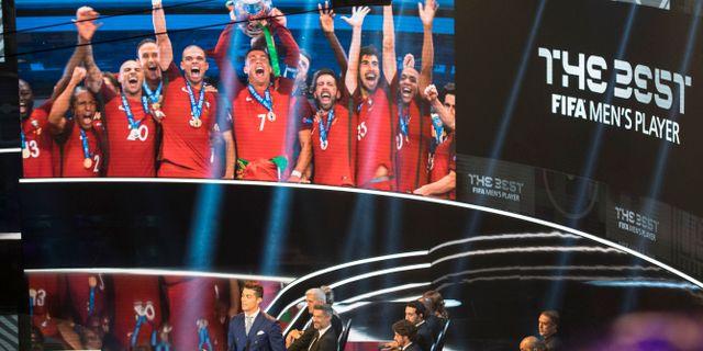 """Från Fifas utdelning av priset """"Men´s player of the year"""" ENNIO LEANZA / TT / NTB Scanpix"""