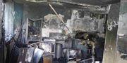 Köket på fjärde våningen där branden startade Grenfell Tower Inquiry / TT / NTB Scanpix