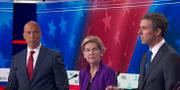 Cory Booker, Elizabeth Warren och Beto O'Rourke