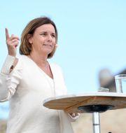 MP-språkröret Isabella Lövin.  Fredrik Sandberg/TT / TT NYHETSBYRÅN