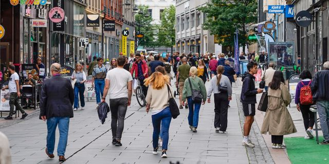 Gata i Oslo.  Lise Åserud / TT NYHETSBYRÅN