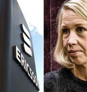 Industrivärden med vd Helena Stjernholm är redo att sälja Ericsson till rätt pris, erfar SvD Näringsliv. Arkivbilder. TT