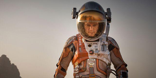 Matt Damon i filmen The Martian. I The Martian måste den strandsatte  astronauten Watney överleva på Mars. 20th Century Fox