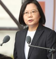 Taiwans president Tsai Ing-wen. Chiang Ying-ying / TT NYHETSBYRÅN