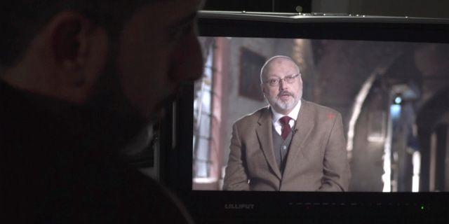Jamal Khashoggi från en intervju i en dokumentär. TT NYHETSBYRÅN/ NTB Scanpix
