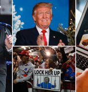 Bob Dylan, Donald Trump, Clintonkritiska Trumpsupportrar och Mukbang – att äta mat och sända det på internet. TT