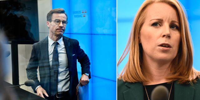 Ulf Kristersson (M)/Annie Lööf (C). TT