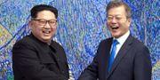 Kim Jong-Un och Moon Jae-in. TT NYHETSBYRÅN/ NTB Scanpix