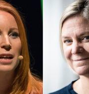 Annie Lööf (C) och Magdalena Andersson (S). TT