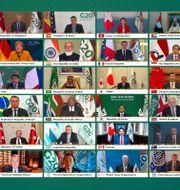 G20-mötet hålls virtuellt.  TT NYHETSBYRÅN