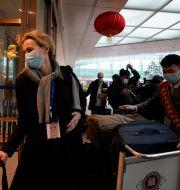 Thea Kølsen Fischer i Wuhan.  Ng Han Guan / TT NYHETSBYRÅN