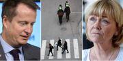 Arkivbilder: Anders Ygeman, poliser till häst i Stockholm, Beatrice Ask. TT