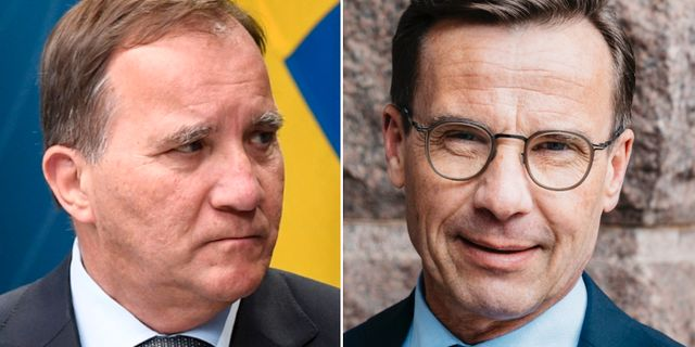 Löfven (S) och Kristersson (M). TT