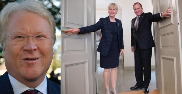 Lars Adaktusson, Margot Wallström och Stefan Löfven. TT