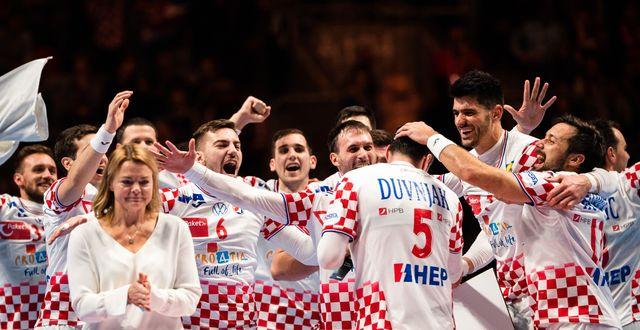 Kroatien firar. JOHANNA LUNDBERG / BILDBYRÅN