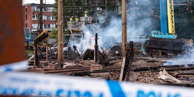 Bild från branden i somras. Johan Nilsson/TT / TT NYHETSBYRÅN