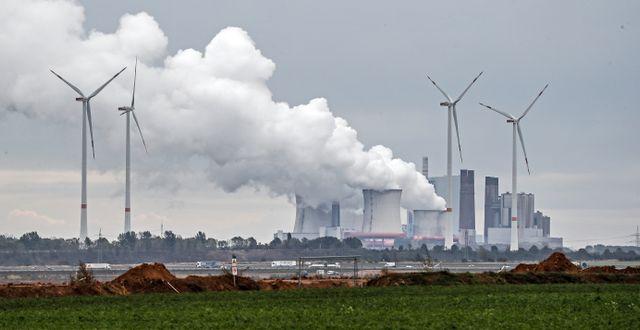 Ett kolkraftverk i Tyskland.  Martin Meissner / TT NYHETSBYRÅN