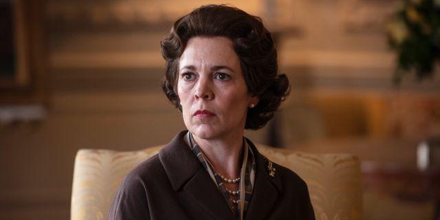 """Olivia Coleman som drottning Elizabeth II i tredje säsongen av """"The Crown"""". Sophie Mutevelian / TT NYHETSBYRÅN"""
