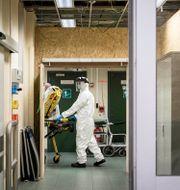 Bild från belgiskt sjukhus.  Valentin Bianchi / TT NYHETSBYRÅN